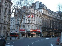 Novello Theatre from Aldwych, RSC season, Aldwych, 2007