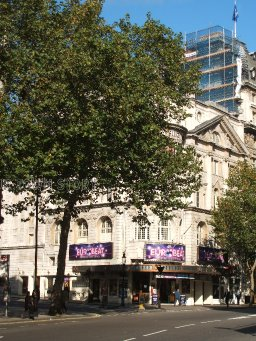 Novello Theatre exterior from Aldwych, Strand, 2008
