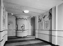 Foyer of Tooting Cinenews, London, c. 1930s