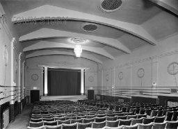 Interior of Tooting Cinenews, London, c. 1930s