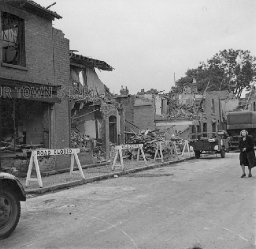 Blitz Bomb Damage in Highgate Road, Birmingham, 29th July 1942