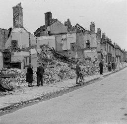 Blitz Bomb Damage in Highgate Road, Birmingham, 29th July, 1942