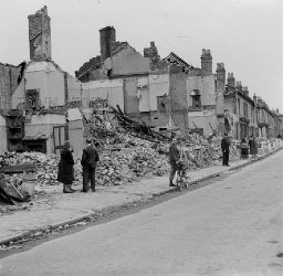 Blitz Bomb Damage in Highgate Road, Birmingham, 29th July, 1942