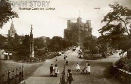 Rochester Castle Gardens, c. 1910s