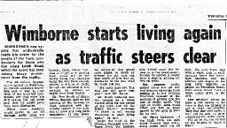 Newspaper Article on traffic after the Wimborne Bypass
