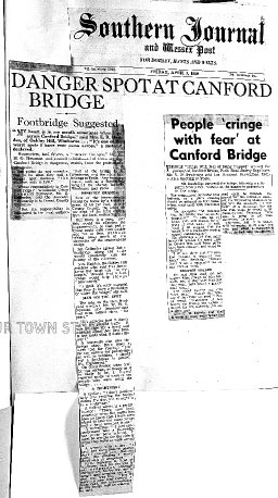 Canford Bridge problems in 1959
