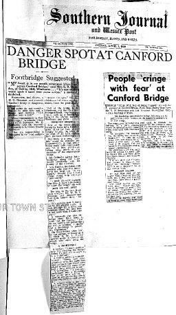 Canford Bridge problems in 1959