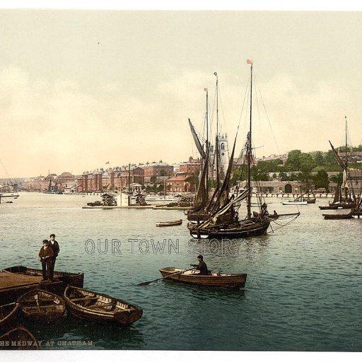 River Medway at Chatham, 1886