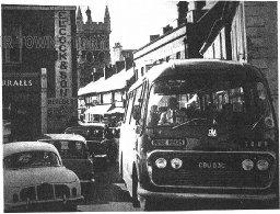 Traffic Jam in East Street, Wimborne Minster, c. 1960s