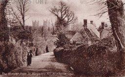 Wimborne from St Margaret's Hill, c. 1900