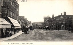 High Street from The Square, Wimborne Minster, c. 1918