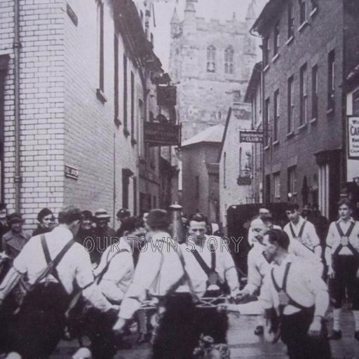 Morris Dancing in The Square, Wimborne Minster, date unknown
