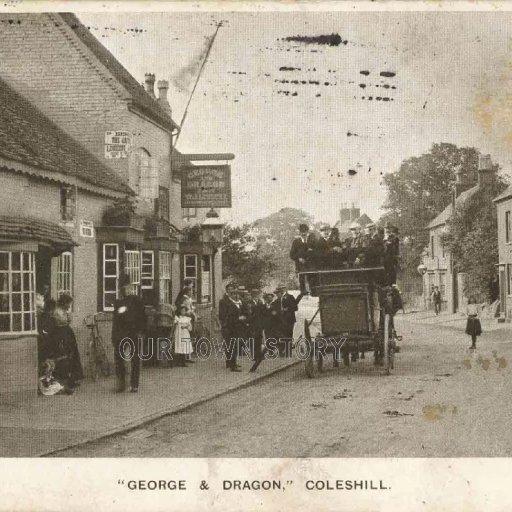 George & Dragon Public House, Coleshill, c. 1906