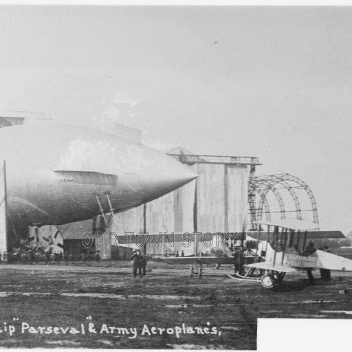 Airship PL-18 'Parseval', Kingsnorth, c. 1913