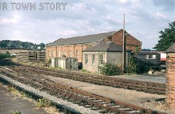 Sheds at Wimborne Station, 1974