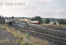 Sidings Outside Wimborne Station, 1974