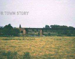 Railway Bridge over the Stour, Wimborne Minster, 1974