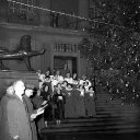 Carol Singers Outside Norwich City Hall, 1957