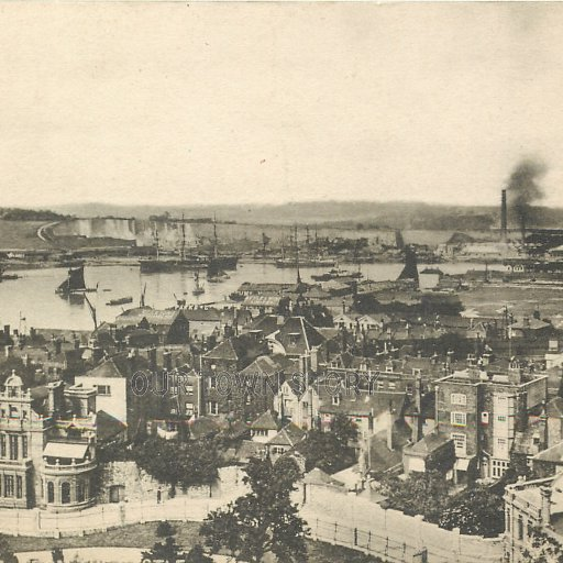 River Medway from Rochester Castle, c. 1905