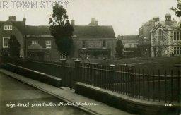 High Street from the Cornmarket, Wimborne, c. 1900s