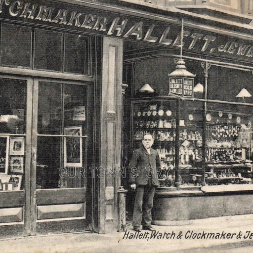 John Hallett, Watch and Clockmaker, Wimborne Minster, c. 1908