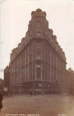 Shaftesbury Hotel, London, c. 1900