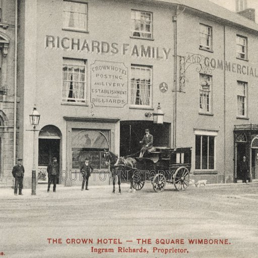 The Crown Hotel & 'Lillies of the Valley', Wimborne Minster, c. 1910
