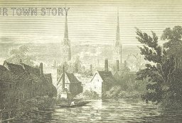 Coventry from the Priory Mill Dam, c. 1800s