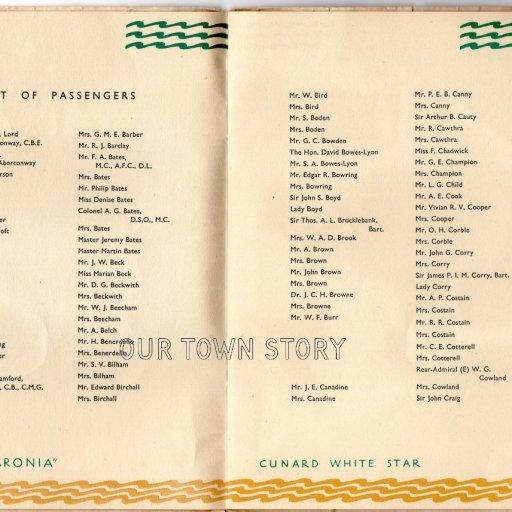 The Coronia 1948 Pre Maiden voyage