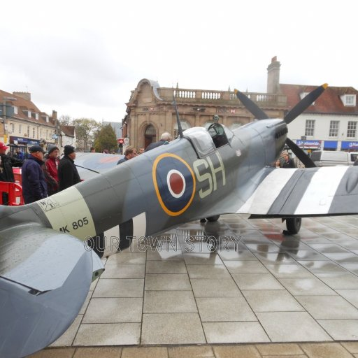 Wimborne Minster - A Spitfire, 2014
