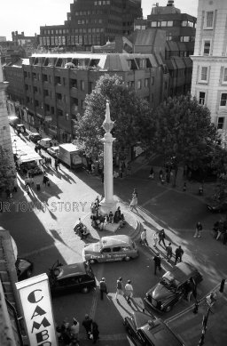 Seven Dials from the Cambridge Theatre, 1998