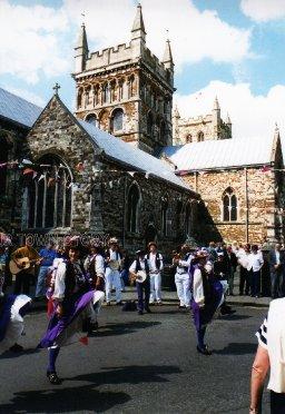 Folk Festival, Wimborne Minster, 1980s