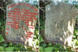 A boundary stone, Ugford, 1883