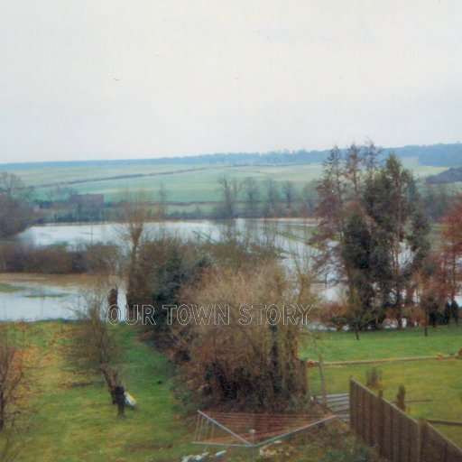 The flood water, Ugford, 1980's