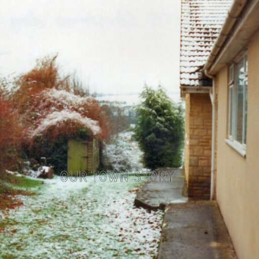 Looking down the public footpath, Ugford, 1990's