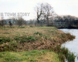 Footbridge accross the River Nadder, 1980
